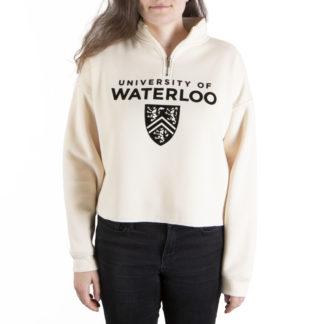 351 Women's 1-4 zip Crop Waterloo front