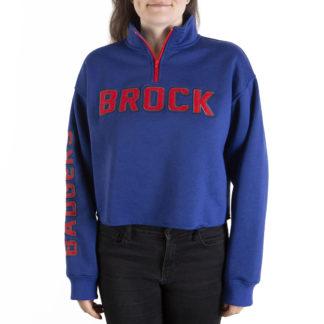 351 Women's 1-4 zip Crop BROCK front